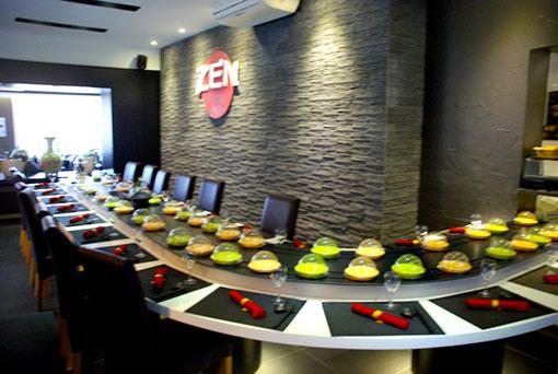 Restaurant zen asiatische küche buffet nach belieben