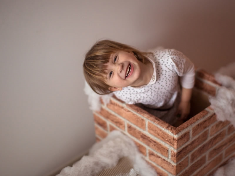 Create a fireplace to welcome Santa Claus