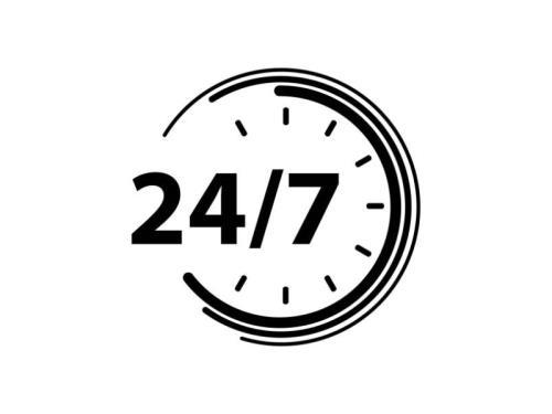 Ouvert 24h/24 - 7 jours/7