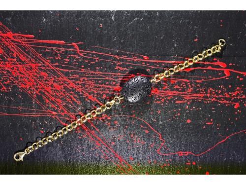 Bracelet de pierre de lave