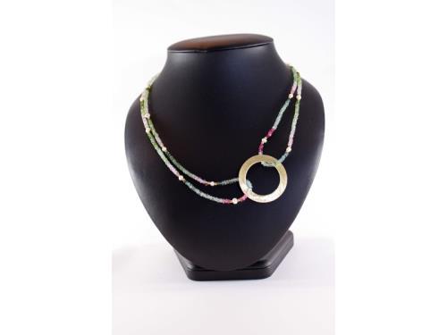 Collier de tourmaline et de perle
