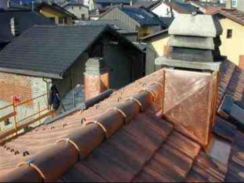 Tour de cheminée en cuivre