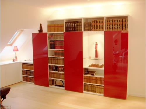 Bibliothèque modulable contemporaine