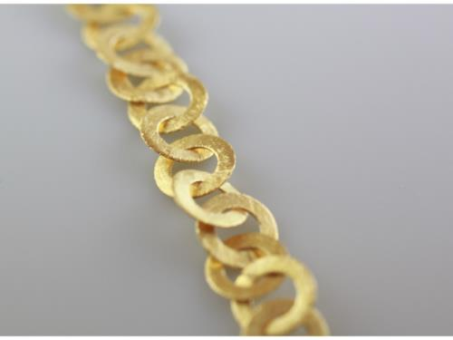 Bracelet d'anneaux en Argent doré