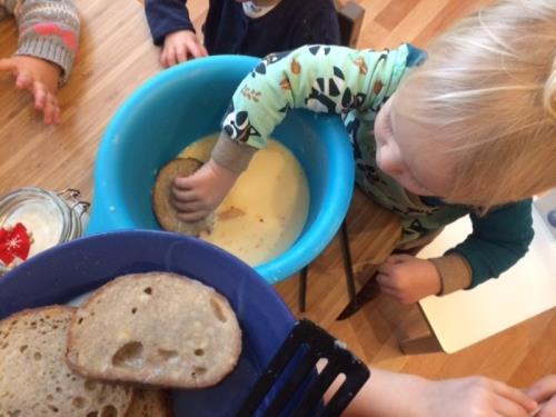 Atelier cuisine, crèche