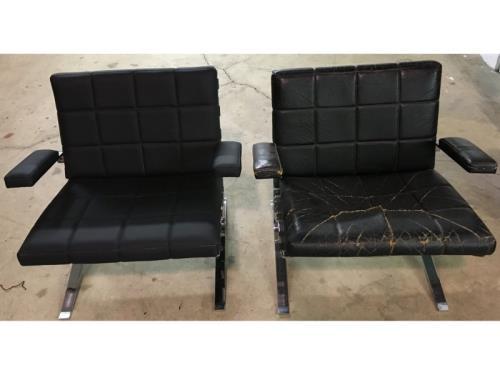 Garnissage chaise (avant/après)