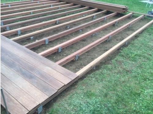 Construction d'une terrasse