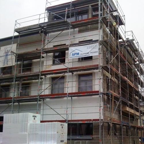 SPM Bâtiment Dudelange Luxembourg isolation facade