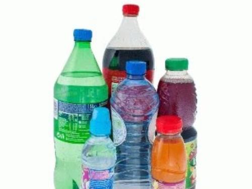 Palette de bouteilles en plastiques