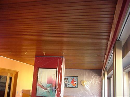 Pose de plafond tendu - AVANT