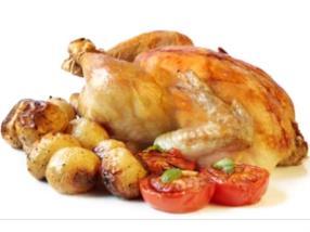 Poulet rôti cuit sur place
