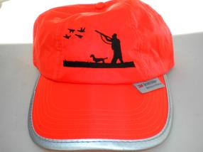 Broderie chasseur sur casquette fluo