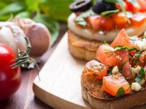 Entrées, plats italiens