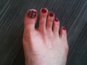 pieds roses