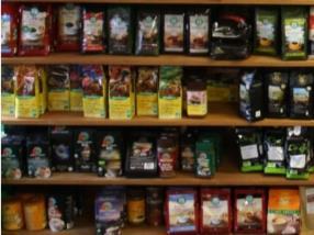 Cafés en grain, moulu et soluble