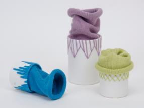 porcelaine et tricotage