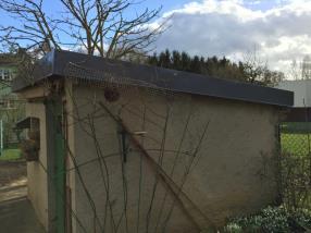 Pose de tôle bac acier sur toiture plate de garage