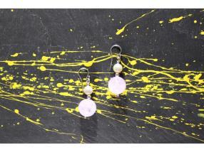 Boucles d'oreilles d'améthyste et de perle