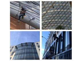 nettoyage vitres sur corde