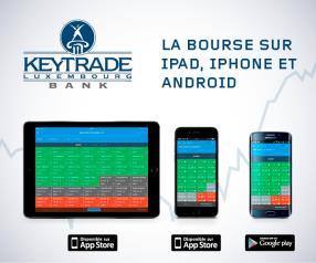 Découvrez l'appli Keytrade Bank Luxembourg