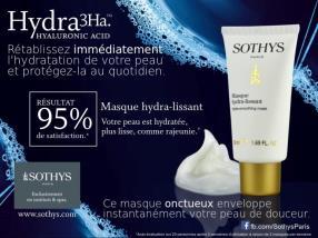 Masque Hydra 3Ha™ de Sothys
