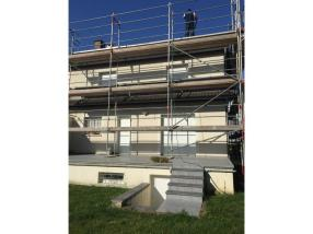 Travaux sur façade (chantier de Strassen)
