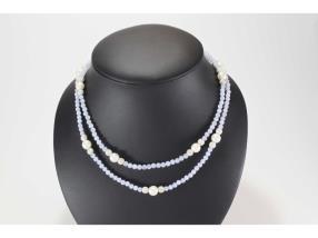 Collier de calcédoine et perle