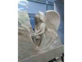 Monument funéraire en Grès Beige sculpté