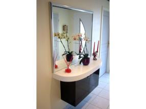 Meuble suspendu avec miroir contemporain