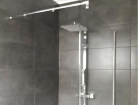 pose d'une douche