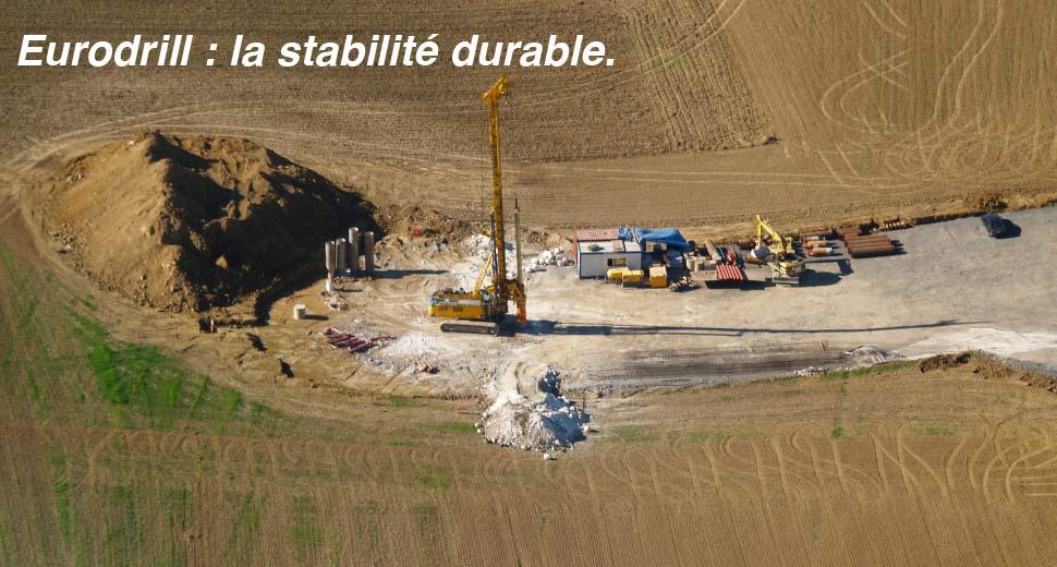 Eurodrill SA Fuussekaul Heiderscheid Luxembourg forage ancrage
