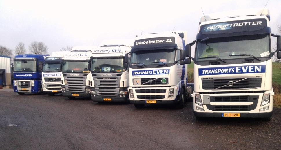 Transports Even Sàrl Réidenerstrooss Ell Luxembourg camion