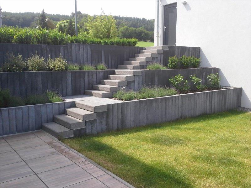 Murets et escaliers