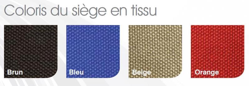 Coloris du siège en tissu