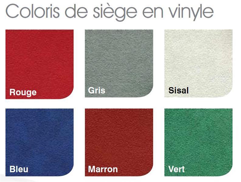 Coloris du siège en vinyle