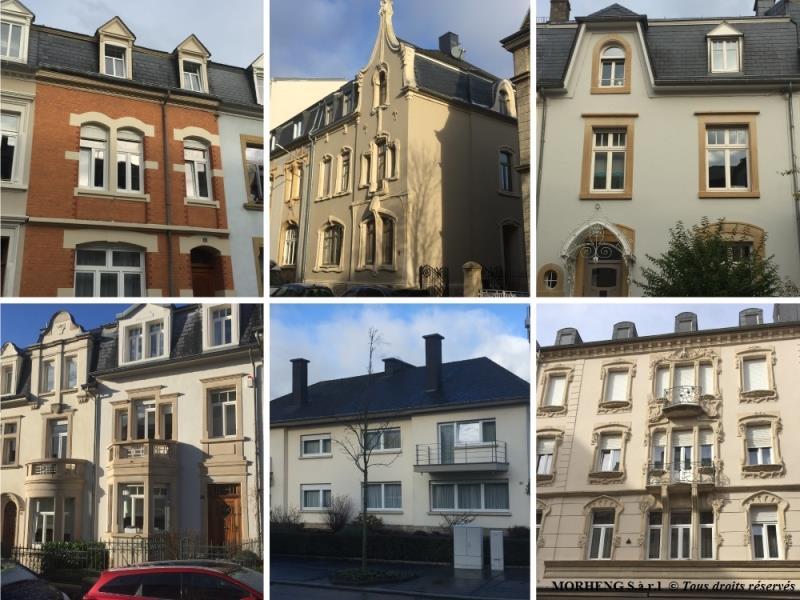 Façades restaurées et rénovées