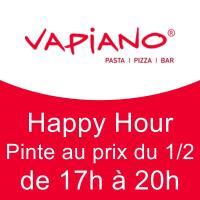 Happy Hour : Pinte au prix du 1/2