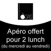 Apéro offert pour 2 lunch